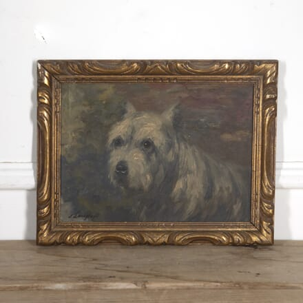 Signed Oil Painting of a Scottish Terrier WD1516565