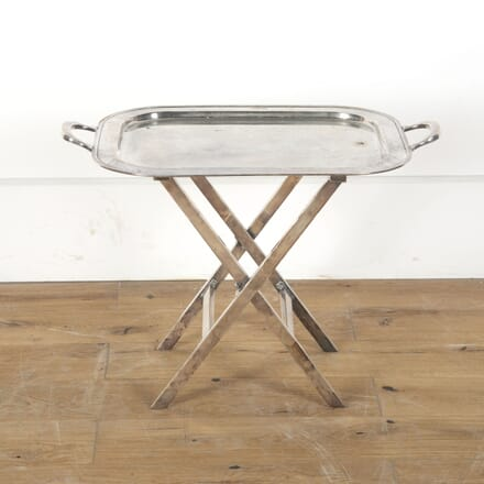 Silver Plate Butler's Tray Table TD6812932