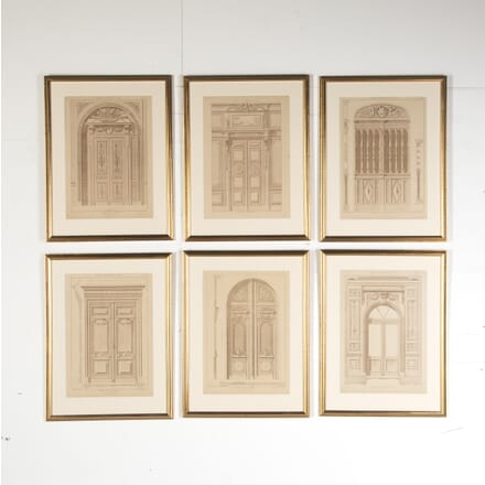 Six French 19th Century Architectural Engravings WD8016026