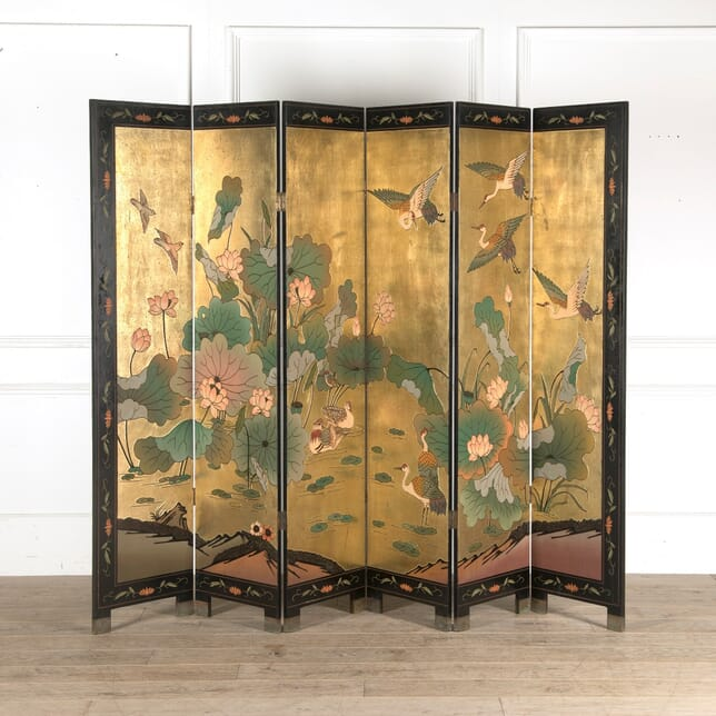 Six Fold Chinese Decorated Screen OF4510693