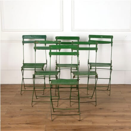 Six French 19th Century Folding Garden/Bistro Chairs GA7111208