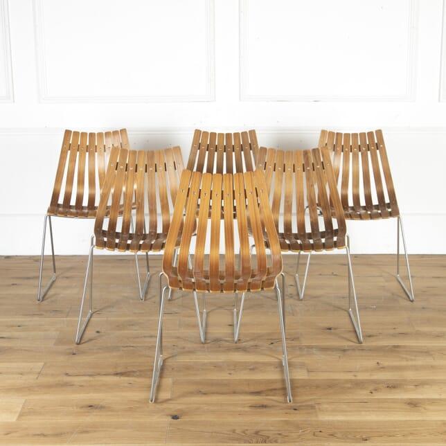 Set of Six Hans Brattrud Dining Chairs CD9014523