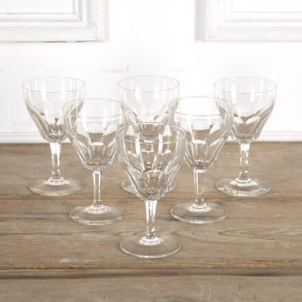 Set of Six Val Saint Lambert Crystal Glasses DA5816534