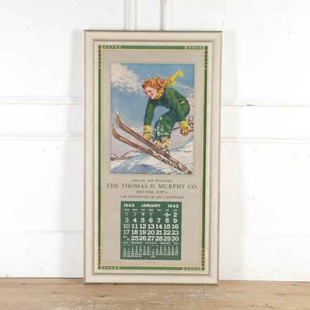 20th Century Framed Pin Up Poster WD8715369