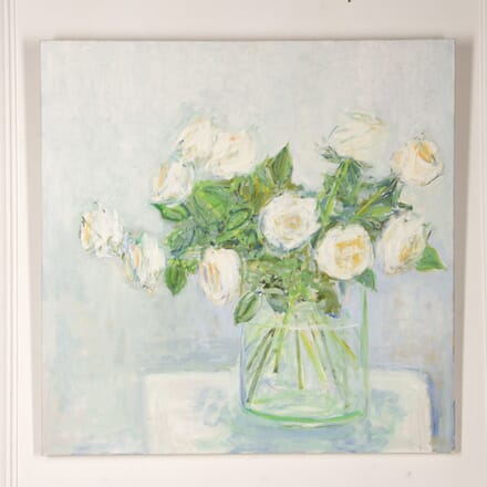 Still Life of White Roses by Susanna Linhart WD2917513