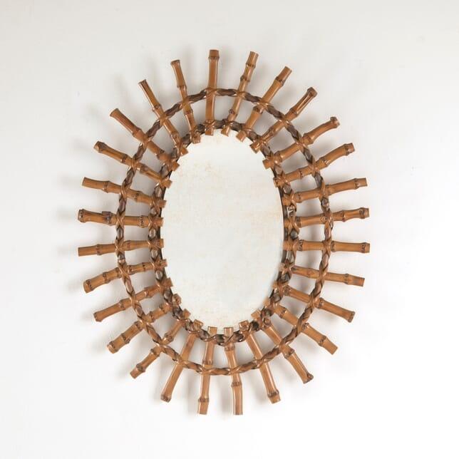 Small Bamboo Sun Mirror MI3010910