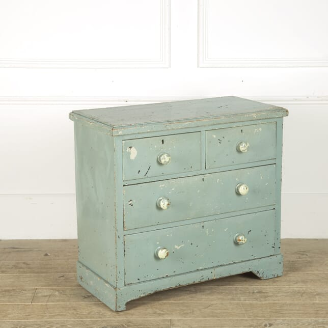 Small Blue Rural Chest of Drawers CC209501