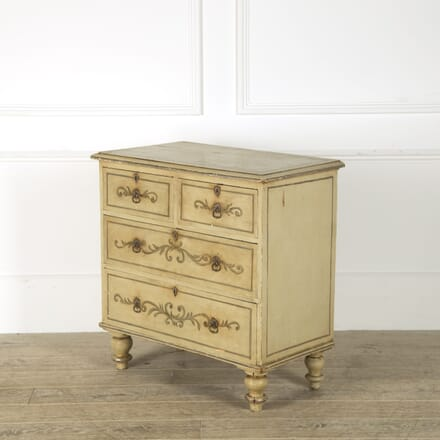 Small English Painted Chest of Drawers CC209218