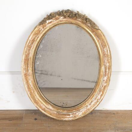 Small French Gilt Oval Mirror MI2014631