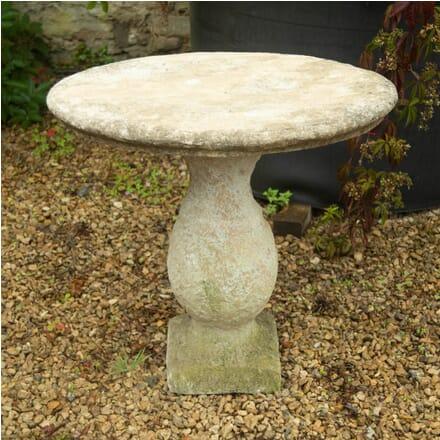 Small Oval Limestone Table GA1910878