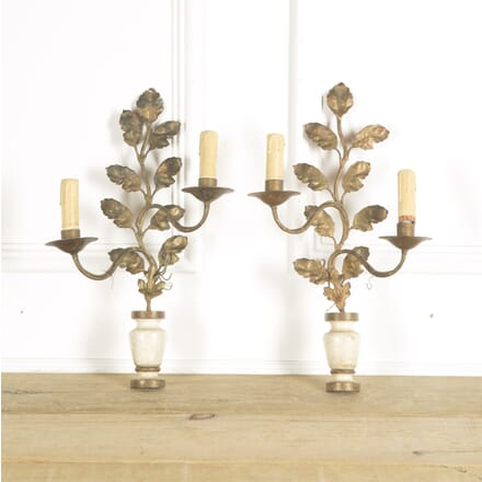 Small Painted Leaf and Urn Wall Lights LW139999