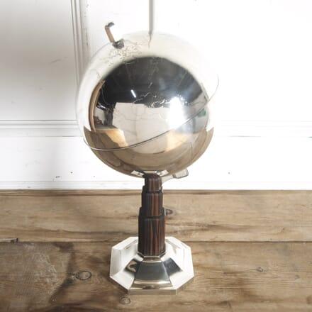 Art Deco Solid Silver Globe by Emile Jacques Rhullman DA8715692