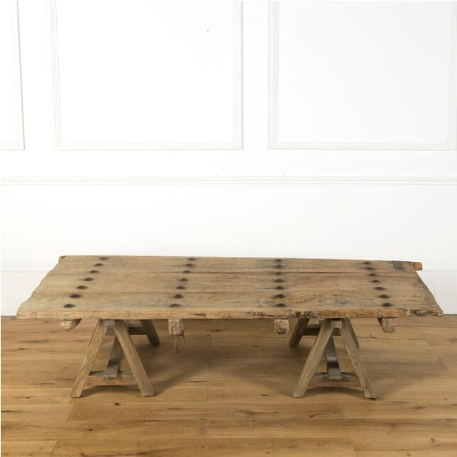 Spanish 17th Century Studded Door Coffee Table CT379523
