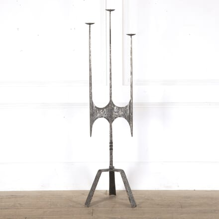Spanish Brutalist Floor Candle Stand DA0113627
