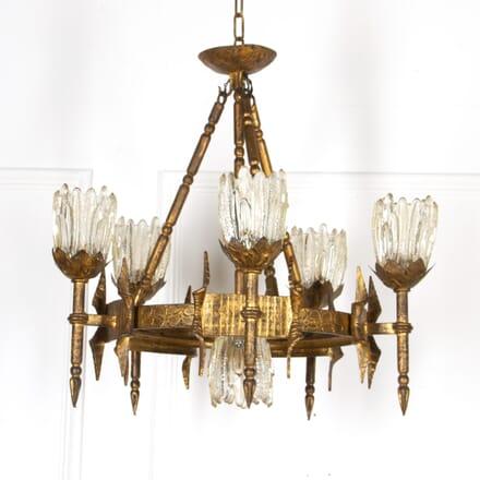 Spanish Gilt Iron Hanging Light LL1516591