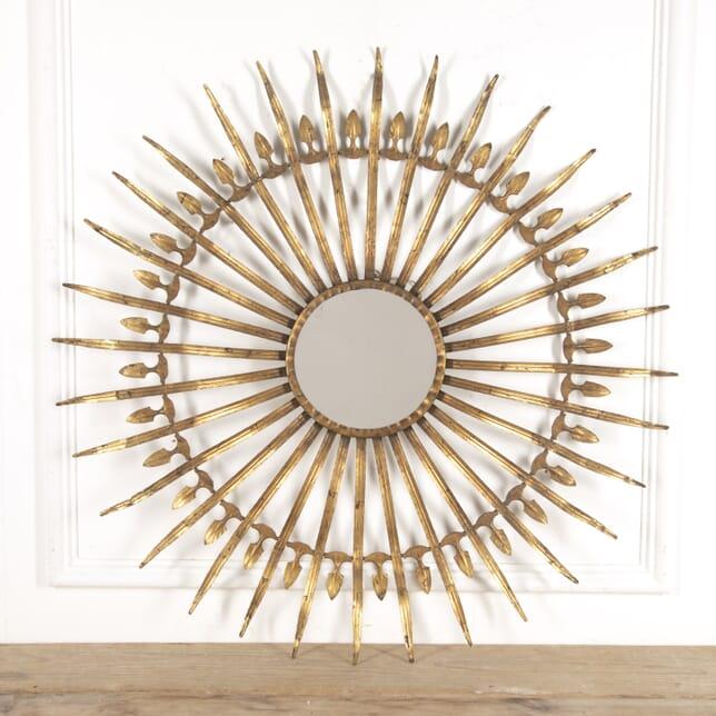 Spanish Gilt Metal Sunburst Mirror MI1515393