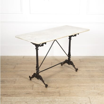Spanish Iron and Marble Bistro Table TC1516521