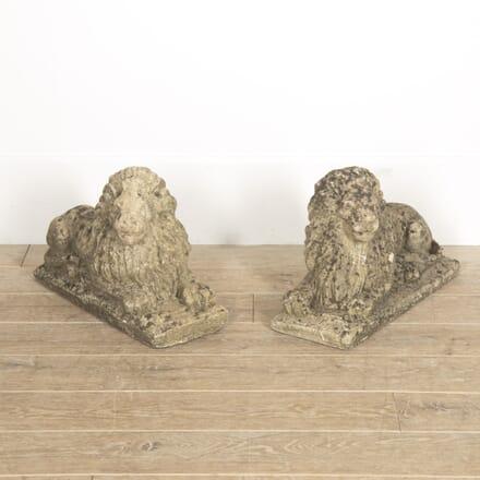 Pair of Stone Lions DA1314949