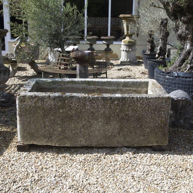 Patinated Limestone Trough GA0715487