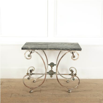 Stripped Metal Bakers Table TC1311428