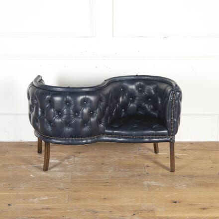 Leather Mid Century Conversation Seat CH8715304