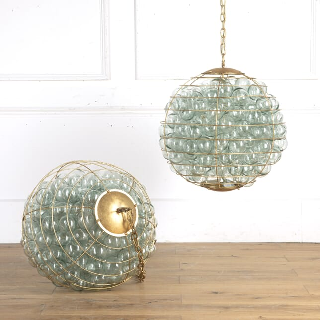 Stunning Pair of Orb Chandeliers LC8715696