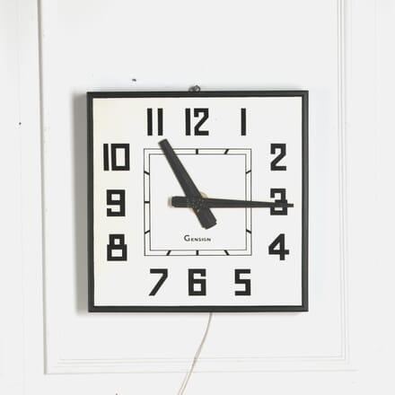 Stylised 1950s Railway Station Electric Wall Clock DA2510507