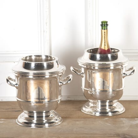 Superb Pair of Art Deco Silver-Plated Wine Coolers DA5813841
