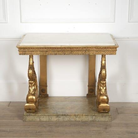 Swedish Gustavian Giltwood Console Table CC3915797