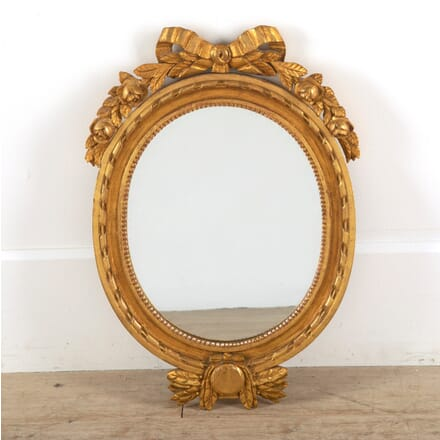 Swedish late 19th Century Gustavian Giltwood Mirror MI8811362