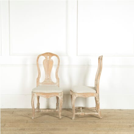 Swedish Rococo Chairs in Old Paint CH019207
