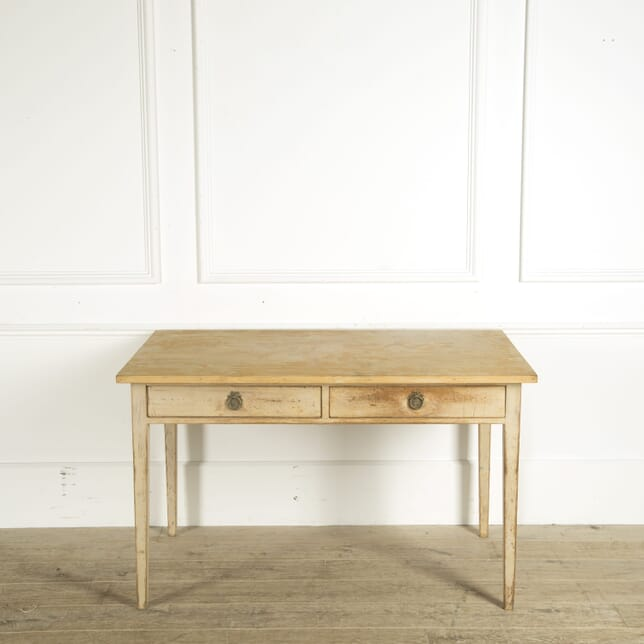 Swedish Two Drawer Bleached Pine Desk DB449257