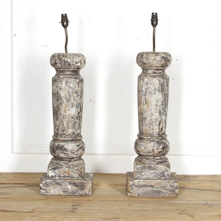 Pair of Carved Column Table Lamps LT1317527