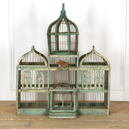 Taj Mahal Wooden Bird Cage DA6016550