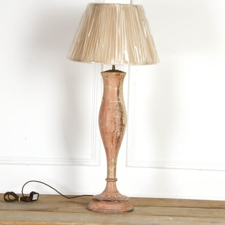 Tall Pink Marble Effect Balustrade Lamp LT7917561