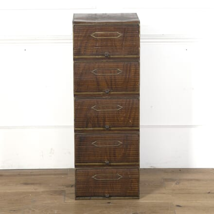 Tambour Painted Tin Filing Cabinet OF3610275