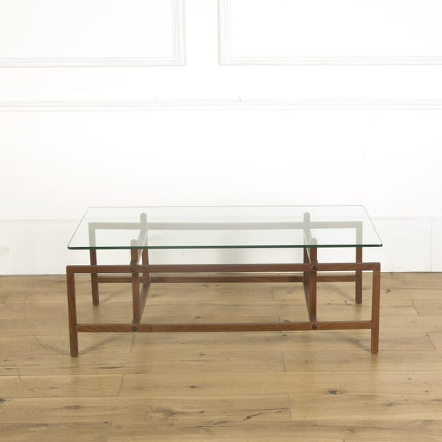 Teak and Glass Topped Coffee Table CO539617