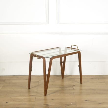 Teak Framed Serving Table TS539615