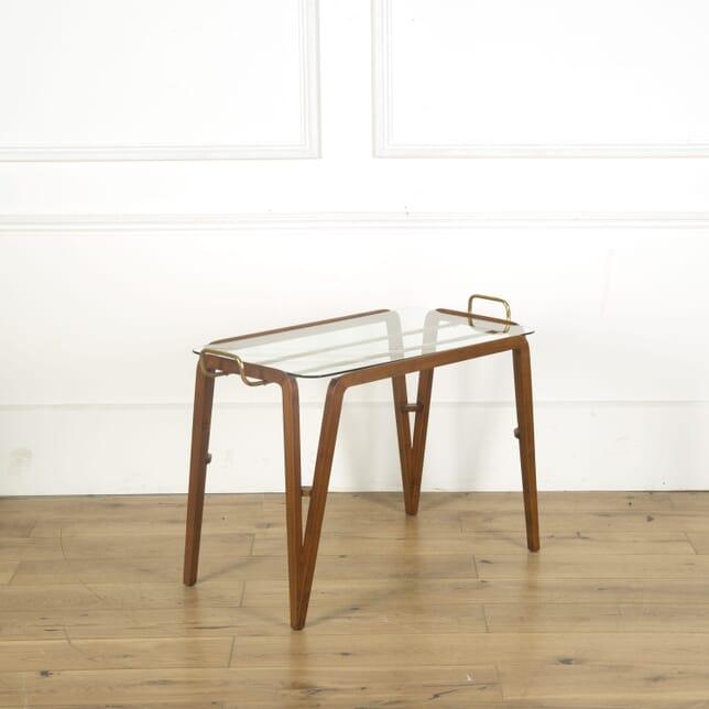 Teak Framed Serving Table TS539615