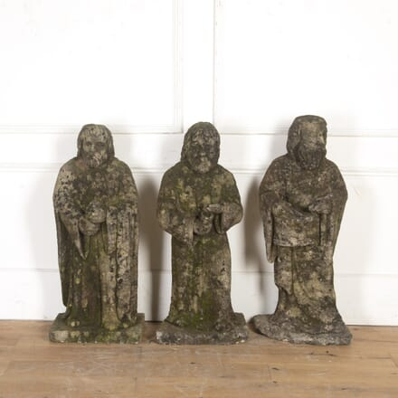 Three Italian 19th Century Carved Stone Figures DA8616651