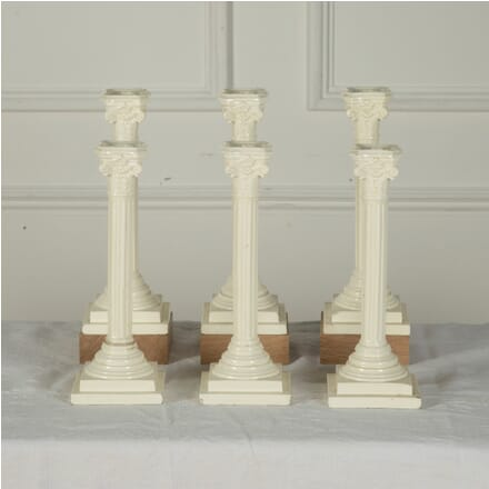 Three Pairs of 19th Century English Creamware Candlesticks DA7611528