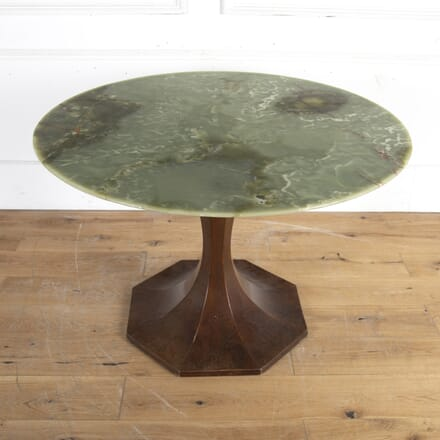 Mahogany Tulip Centre Table with Onyx Top TC8914287