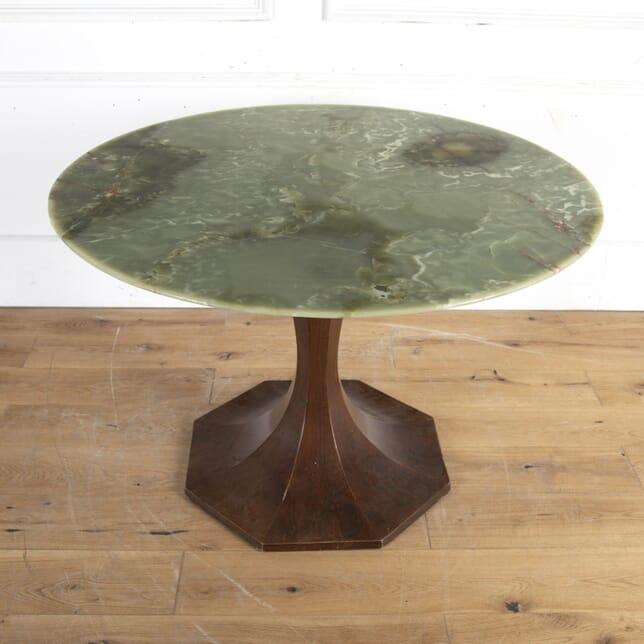 Mahogany Tulip Centre Table with Onyx Top TC8914287
