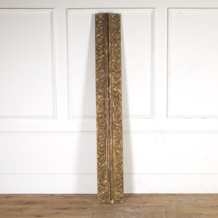 Two Lengths of 18th Century Carved Giltwood DA7115415