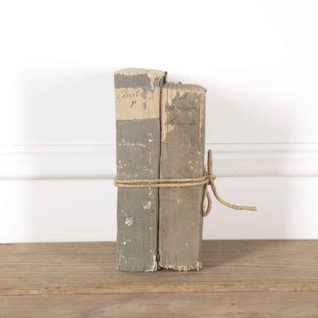 Pair of Thick 18th Century French Books DA4414101