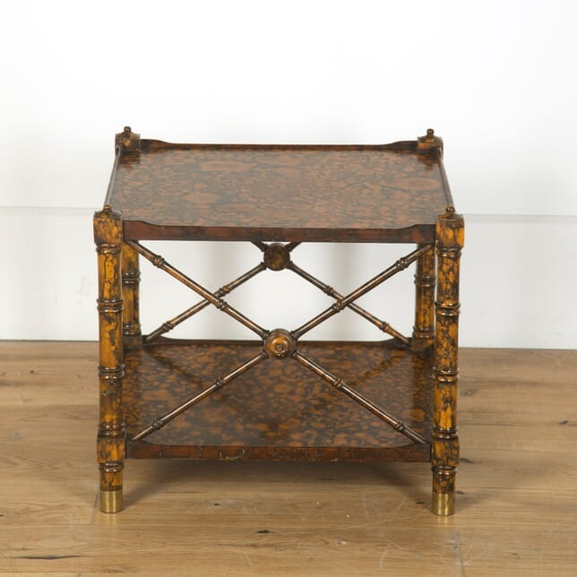Two Tier Faux Tortoise Shell Side Table CO439834