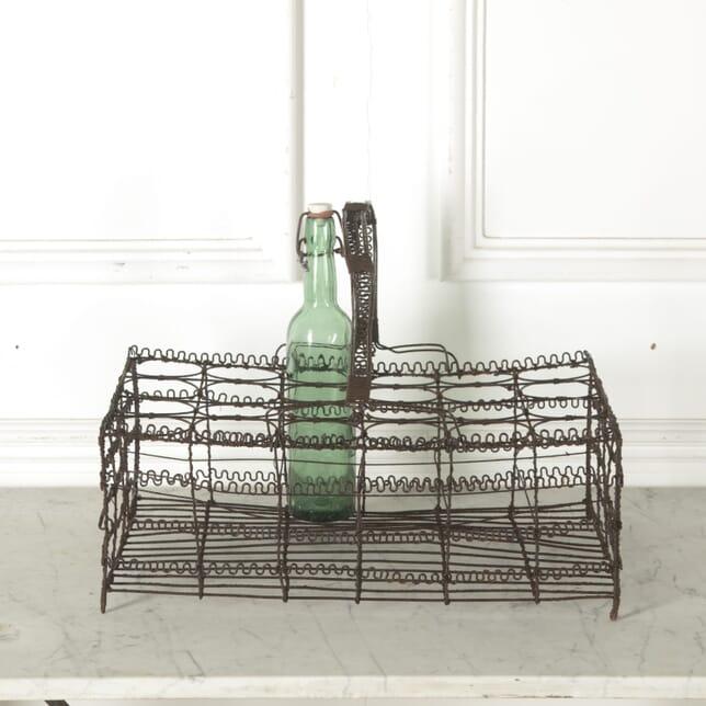 Unusual French Wirework Bottle Holder DA1510596