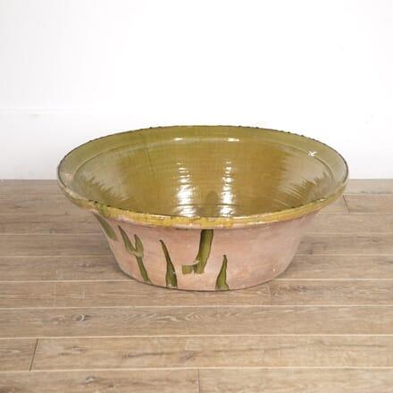 Large French Green Glazed Bowl DA5216363