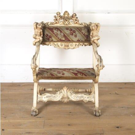 Venetian 19th Century Throne Chair CH7915756