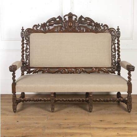 French Victorian Hunting Sofa DA8716230